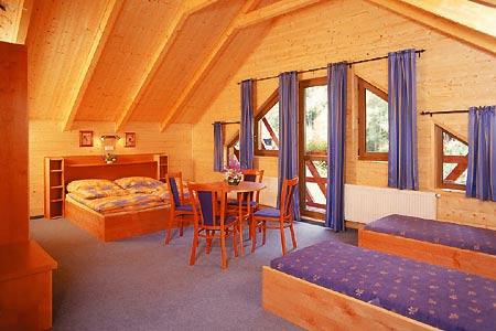 Ubytování na horách - Horské domy v Krušných horách - pokoj